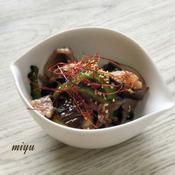 牛肉と夏野菜のタイ風炒め