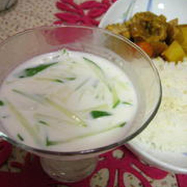 冷たいヨーグルトスープと、murachiさんち ご飯=夏休み編4=