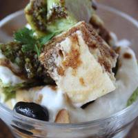 豆乳ホットケーキのパフェ~抹茶ときな粉風味~