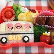 幼稚園バスで冒険へGO!のお弁当♪