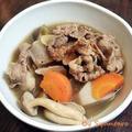【冬野菜・郷土料理・里いも・牛肉】山形の郷土料理『芋煮』を作ってみました。