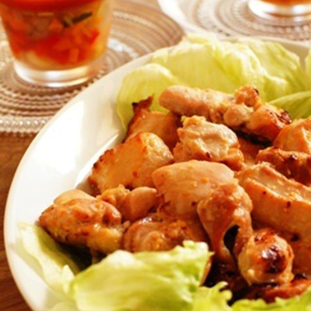 チキンのヨーグルト味噌焼きと野菜のジュレ