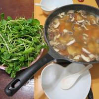 創味シャンタン鍋!!「クレソンしゃぶしゃぶ」〆は素麺!!
