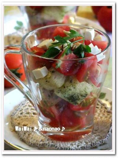 極上のミディートマトde・・・美肌生活♪♪ トマトのパンサラダ♪♪