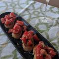 完熟トマトでブルスケッタ