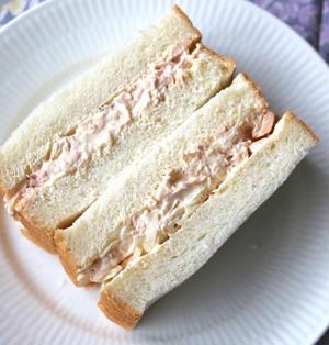 超絶シンプル「ツナマヨサンドイッチ」のお弁当