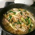 お肉と野菜の簡単鍋♪ニンニク味噌味♪