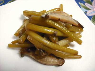 つわぶきと生椎茸の炒め物