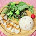 炊飯器で簡単♪ナッツで健康パワーアップ↑のシンガポールライス