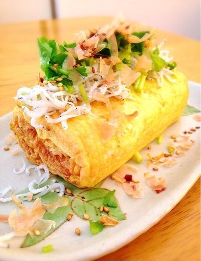 桜海老粉の卵焼き。