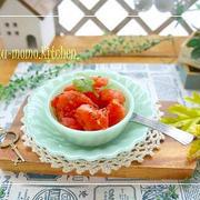 デザートにも料理にも使える!簡単「トマトシャーベット」が便利です♪