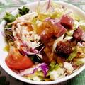 パストラミポークのグリーンサラダ