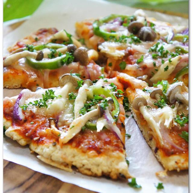 ホットケーキミックスでサクッとピザ