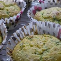 鉄分アップ☆ホットケーキミックスで作る、ほうれん草とりんごの豆乳マフィン♪&SSOK近くでランチ~