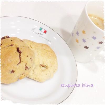袋で簡単☆ホットケーキミックスで2種のアメリカンクッキー