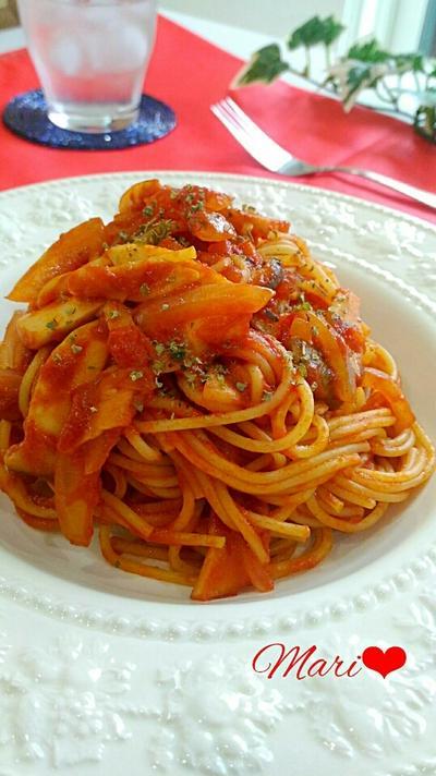 簡単美味☆エリンギの濃厚トマトソースパスタ/クックパッド「プレーンクッキー」人気検索1位☆