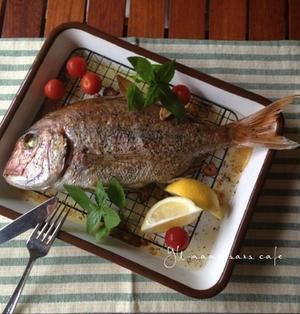 鯛のガーリックオイル焼き〜B.D.レシピ〜