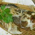 キジハタの中華風蒸し魚 お仕置き風