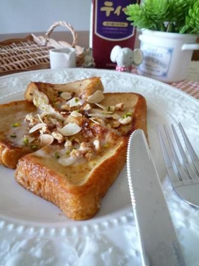 アイスティーで、ふわふわとろけるフレンチトースト!