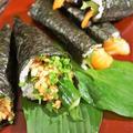 ■簡単な手巻き寿司【梅納豆胡瓜巻き/はみ出しサーモン巻き】