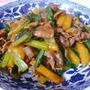 柿と 豚肉の 中華風炒め 作りました♪