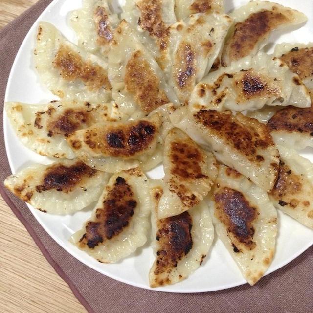 イタリアンな餃子を作る 「バジルとチーズの餃子」
