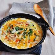 【レシピ】豚バラともやしの坦々豆乳スープ   #時短#スープ#鍋#簡単