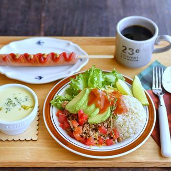 タコライスの朝ごはんと ✻ いつでもいるよ。