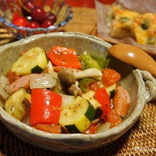 ルクエを使ってラタトゥイユと枝豆チーズパンを作ってみた