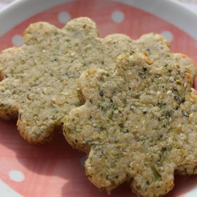 ブロッコリーの白ゴマきな粉クッキー
