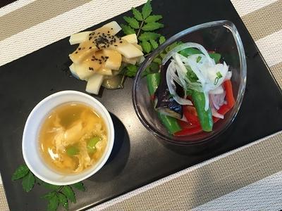 そろそろ夏のメニュー~枝豆と溶き卵のゼリー寄せ!!