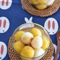 お豆腐白玉で♪2色の月見だんご