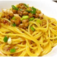 納豆考察「納豆と塩辛のミルクスパ」