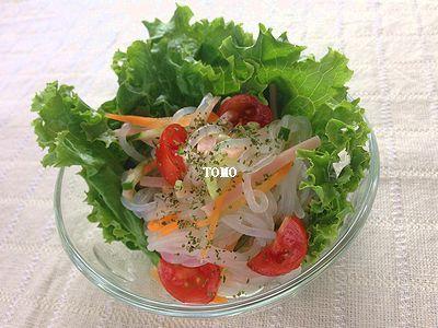 ダイエットにも♪GABAN香菜 de 白滝のタイ風サラダ