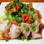 蒸し鶏とたっぷり野菜の低タンパク冷やし中華☆