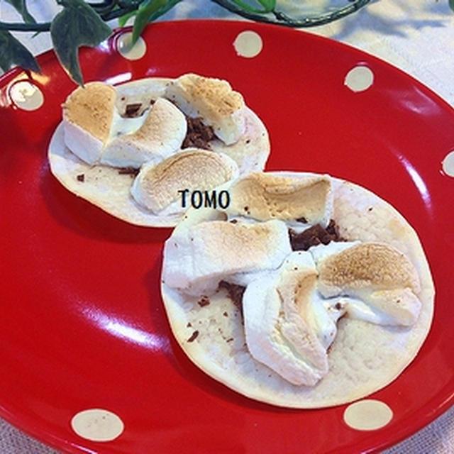 トースターで簡単!余った餃子の皮 de マシュマロチョコパイ