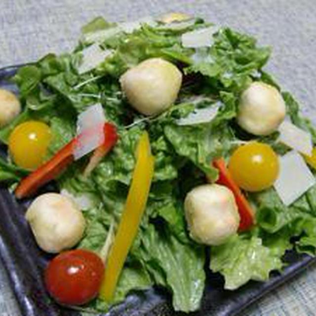 鮮やかな彩りがステキです!!もち麩のカラフルサラダ
