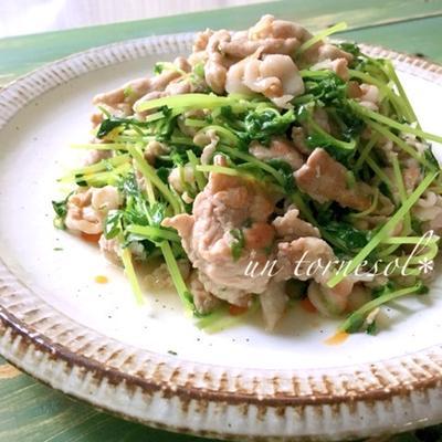 忙しい時に栄養満点☆ 新陳代謝アップに‼︎豆苗と豚肉のネギ塩ダレ炒め♡レシピ