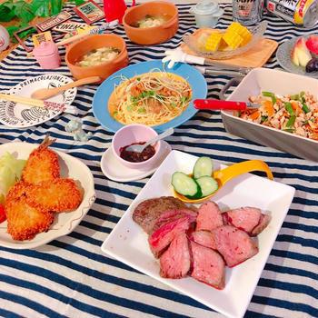 お肉 お魚 パスタとスープ