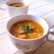 常備食材で‼︎いつもと違う♪すりおろしにんじんのかき卵スープ♡レシピ