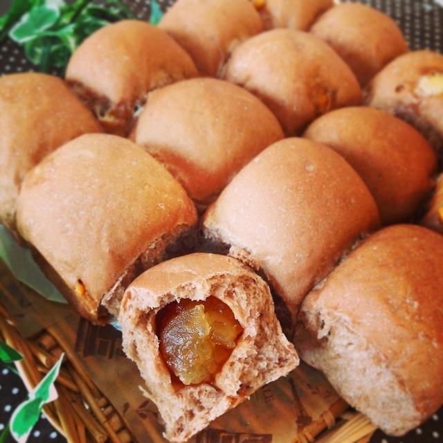 5.りんごジャムとチョコチップのココアちぎりパン
