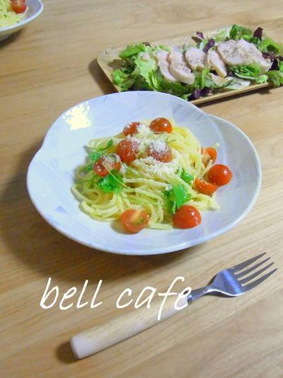 ミニトマトとイタリアンパセリの冷製パスタ