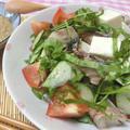 切るだけ、混ぜるだけ☆ さばの水煮缶と夏野菜で冷や汁風サラダ