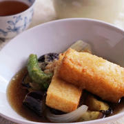 彩り野菜と厚揚げの♡揚げ出し豆腐風レシピ