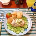 鱈のポーチド・フィッシュ with ハーブバター ~ きゅうり&じゃがいもと♪ by mayumiたんさん