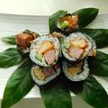 シャウエッセンのお肉で作った「あらびきミートローフ」で   変わり巻き寿司♪ by watakoさん