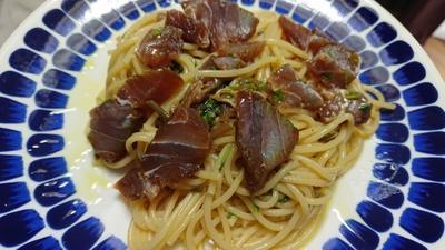 野郎飯流・漬けまぐろと香草の冷製スパゲッティ