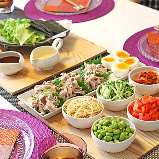 セルフ韓国冷麺パーティ~☆