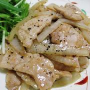 豚ロースの黒胡椒炒め<鶏がらオイスターソース味>