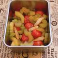トマトとセロリを使ってピクルス